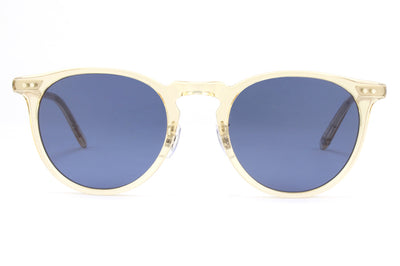 Garrett Leight - Ocean Sunglasses Champagne with Navy Lenses