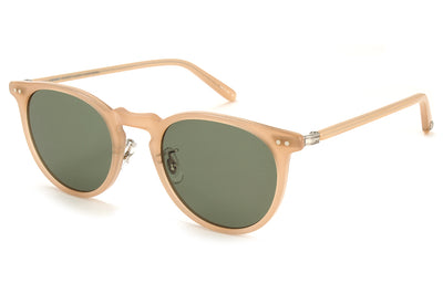 Garrett Leight - Ocean Sunglasses Peach-Silver with Green Lenses