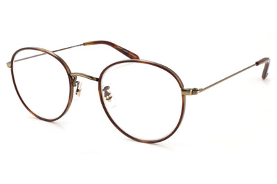 Garrett Leight - Paloma Eyeglasses Marigold Tortoise-Brushed Gold-Dark Honey Tortoise
