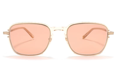 Garrett Leight® - Pier Sunglasses Nude-Rose Gold with Semi-Flat Pure Salmon Lenses