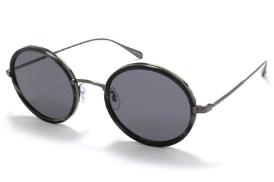 Garrett Leight® - Playa Sunglasses Basalt-Gunmetal with Semi-Flat Black Lenses