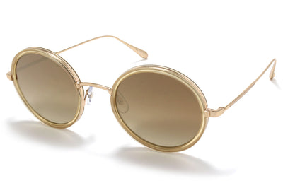 Garrett Leight® - Playa Sunglasses Blonde-Gold with Semi-Flat Sunridge Gradient Mirror Lenses
