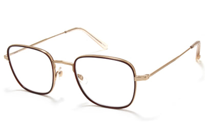 Garrett Leight® - Preston Eyeglasses Brick-Rose Gold-Nude