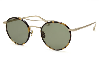Rimowa x GLCO Sunglasses Tokyo Tortoise-Matte Gold with Semi-Flat Green Lenses