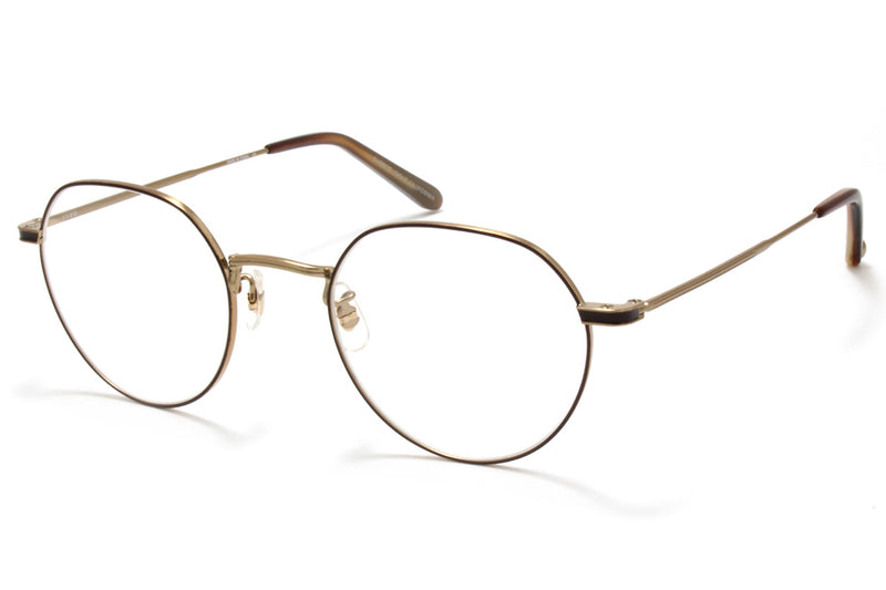 Garrett Leight® - Robson Eyeglasses Brushed Gold-Whiskey Tortoise