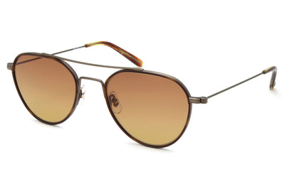 Garrett Leight - San Miguel Sunglasses Marigold Tortoise-Antique Gold II-Chestnut with Hollywood Gradient Lenses