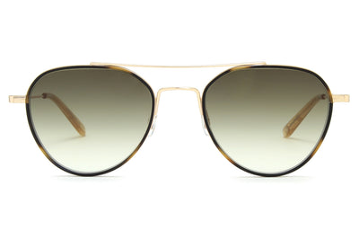 Garrett Leight - San Miguel Sunglasses Tiger Eye-Gold-Blonde with Olive Gradient Lenses