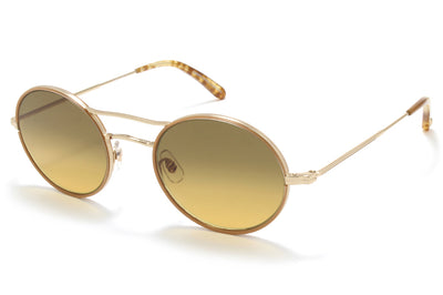 Garrett Leight® - Sanborn Sunglasses Camel-Gold with Semi-Flat Hazel Gradient Lenses