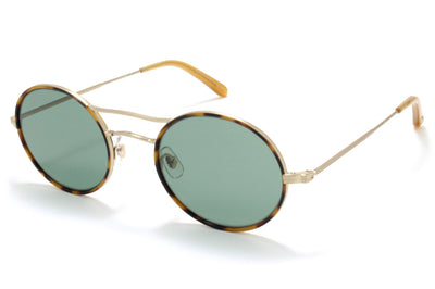 Garrett Leight® - Sanborn Sunglasses Jaguar Tortoise-Matte Gold with Semi-Flat Pure G15 Lenses