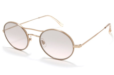 Garrett Leight® - Sanborn Sunglasses Supernova-Rose Gold with Semi-Flat Pink Haze Mirror Lenses