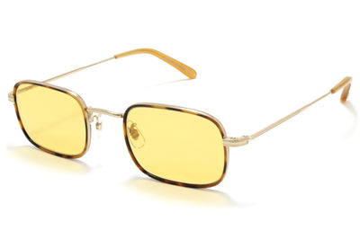 Garrett Leight® - Steiner Sunglasses Jaguar Tortoise-Gold with Pure Amber Lenses