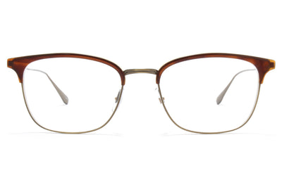 Garrett Leight® - Talbert Eyeglasses Whiskey Tortoise-Antique Gold