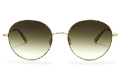 Garrett Leight - Valencia Sunglasses Matte Gold-Blonde with Olive Gradient Lenses