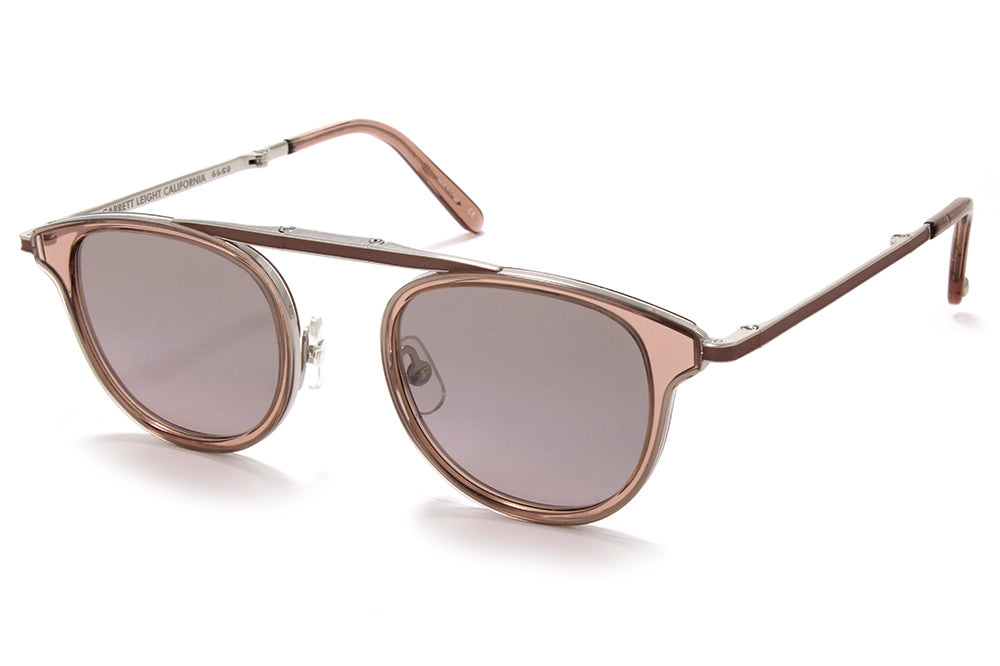 a31553d737352 Garrett Leight® - Van Buren Combo Sunglasses Desert Rose-Silver with  Semi-Flat