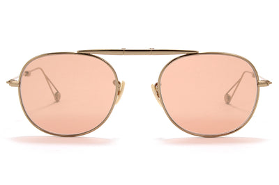 Garrett Leight® - Van Buren Sunglasses Rose Gold with Flat Coral Mirror Lenses