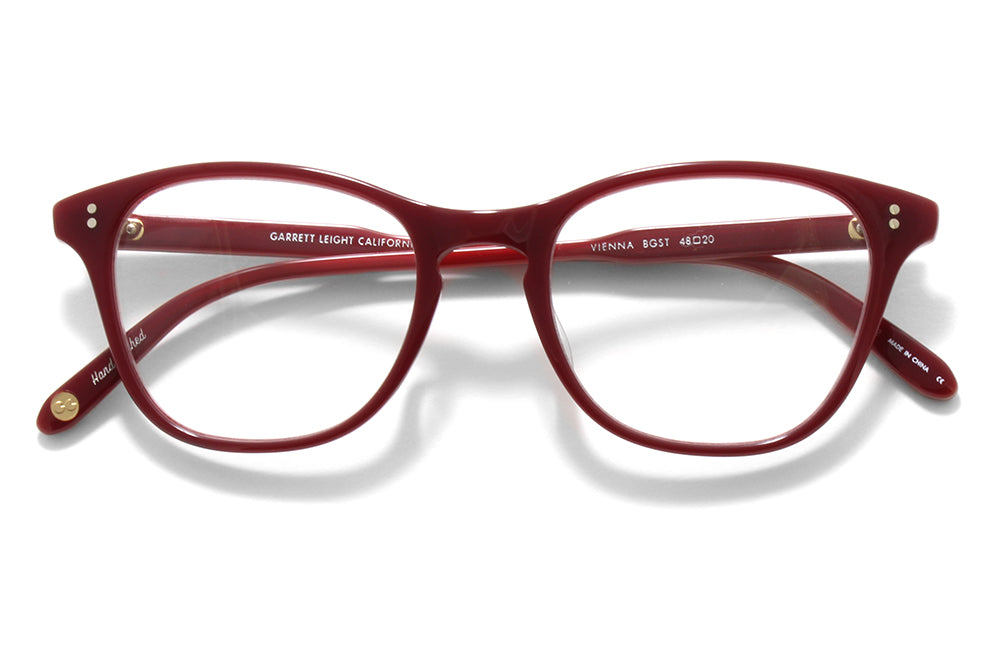 Garrett Leight® - Vienna Eyeglasses Burgundy Stripe