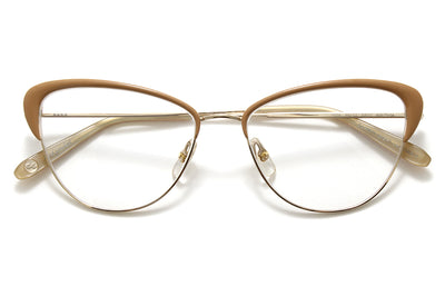 Garrett Leight® - Vista Eyeglasses Matte Gold-Caramel Laminate