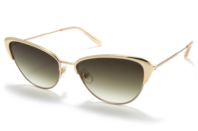 Garrett Leight® - Vista Sunglasses Gold-Cashmere with Semi-Flat Olive Gradient Lenses