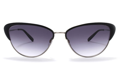 Garrett Leight® - Vista Sunglasses Light Gunmetal-Black with Semi-Flat Onyx Gradient Lenses