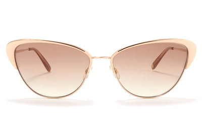 Garrett Leight® - Vista Sunglasses Rose Gold-Mink Velvet with Semi-Flat Copper Gradient Lenses