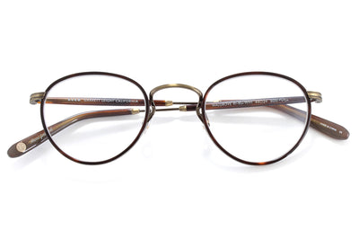 Garrett Leight - Walgrove Eyeglasses Red Tortoise-Brushed Gold-Whiskey Tortoise