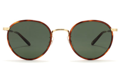 Garrett Leight - Wilson Sunglasses Butterscotch Tortoise-Gold-Dark Honey Tortoise with Pure G15 Lenses