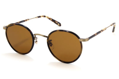 Garrett Leight - Wilson Sunglasses Tortoise-Antique Gold II-Yellow Tortoise with Semi-Flat Pure Brown Lenses