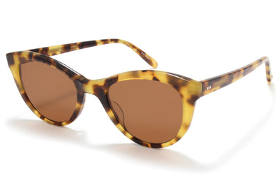 Garrett Leight® - GLCO x Clare V. Sunglasses Tournesol with Flat Oak Lenses