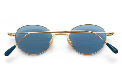 Kaleos Eyehunters - Baskin Sunglasses Gold with Blue Lenses