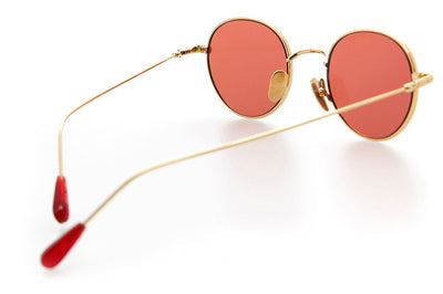 Kaleos Eyehunters - Baskin Sunglasses Gold with Red Lenses