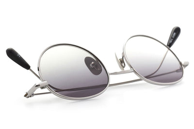 Kaleos Eyehunters - Baskin Sunglasses Silver with Grey Gradient Lenses