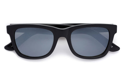 Kaleos Eyehunters - Belfort Sunglasses Black with Grey Matte Mirror Lenses