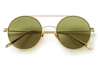 Kaleos Eyehunters - Borden Sunglasses Gold with Green Lenses