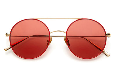 Kaleos Eyehunters - Borden Sunglasses Gold/Red