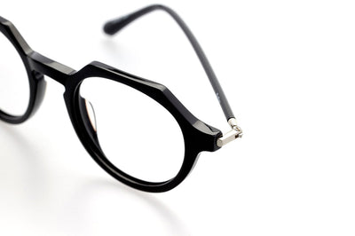 Kaleos Eyehunters - Button Eyeglasses Black