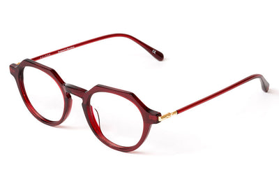 Kaleos Eyehunters - Button Eyeglasses Red