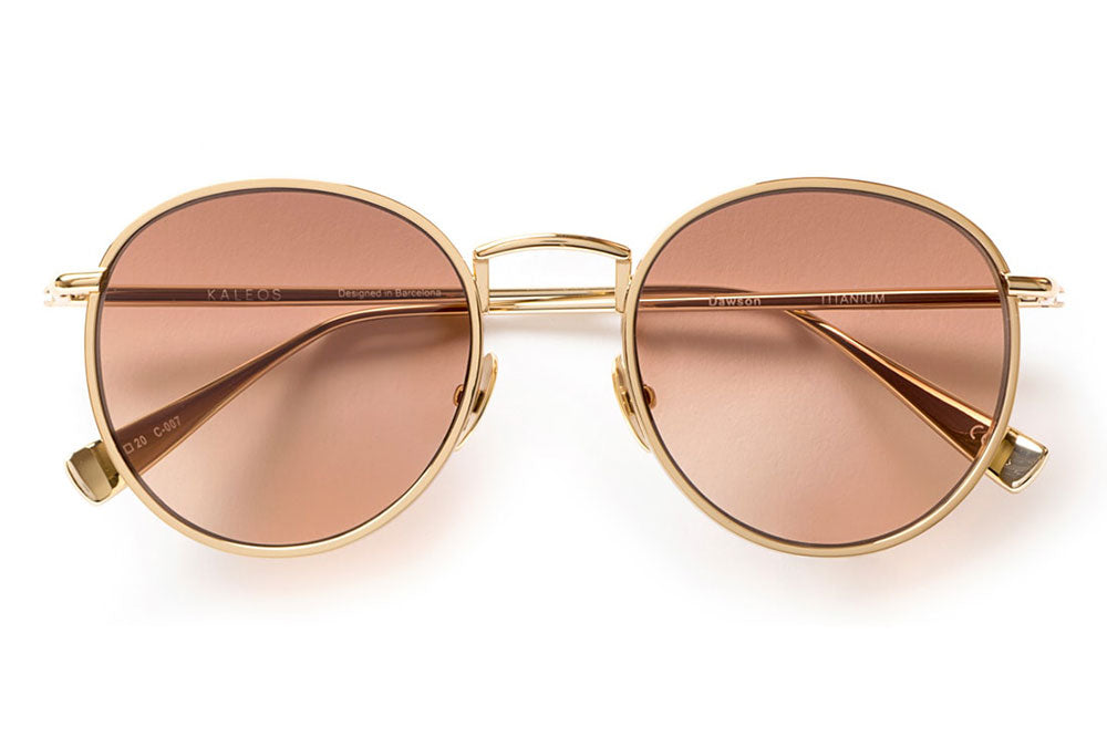 Kaleos Eyehunters - Dawson Sunglasses Gold with Brown Gradient Lenses