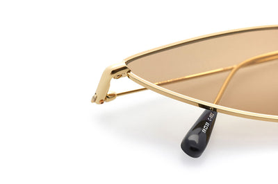 Kaleos Eyehunters - Horowitz Sunglasses Gold with Gold Mirror Lenses