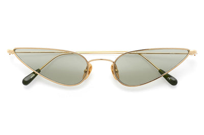 Kaleos Eyehunters - Horowitz Sunglasses Gold with Green Lenses