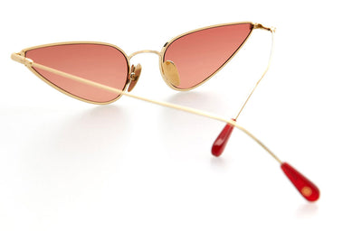Kaleos Eyehunters - Horowitz Sunglasses Gold with Red Lenses