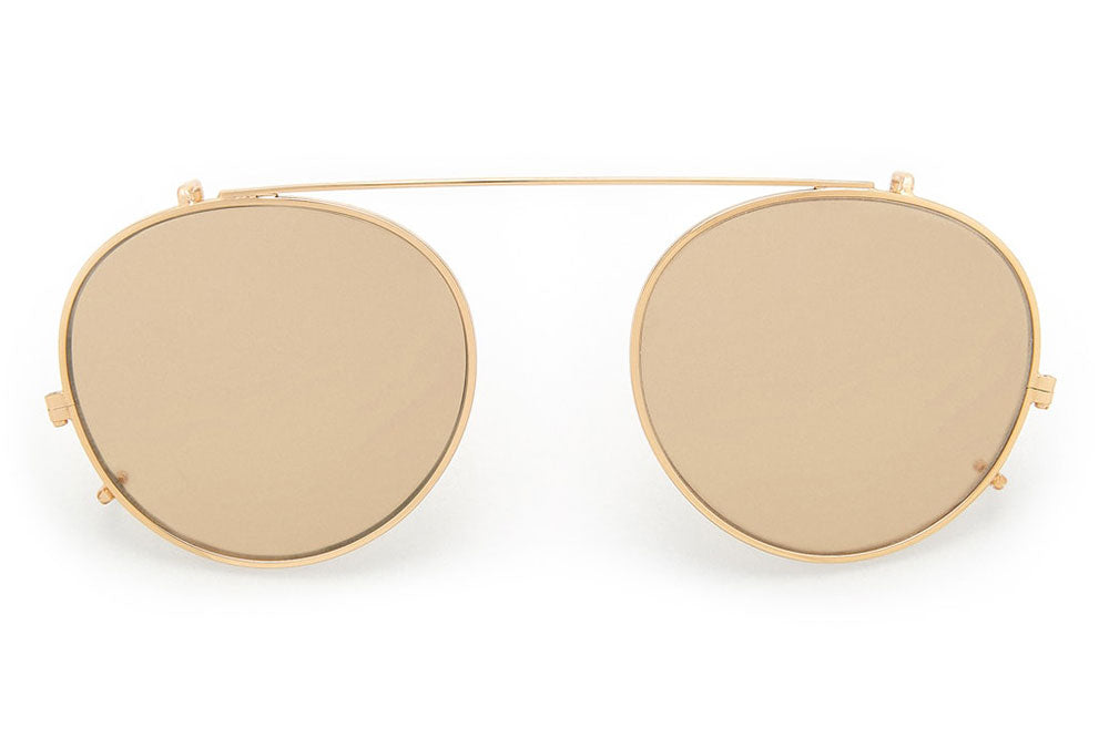 Kaleos Eyehunters - Kaufman Sun-Clips Gold with Gold Mirror Lenses