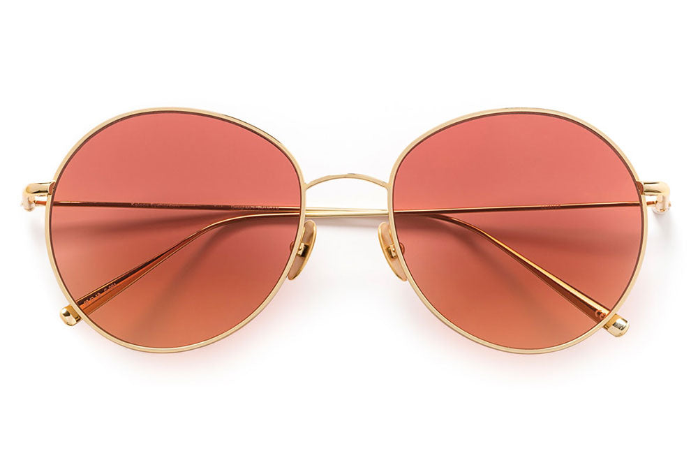 Kaleos Eyehunters - Ledoux Sunglasses Gold with Red Lenses
