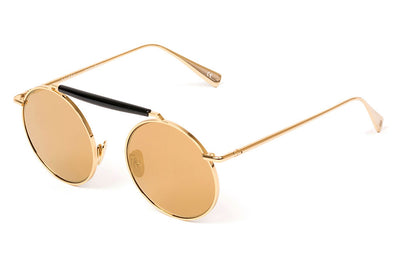 Kaleos Eyehunters - Noland Sunglasses Gold with Gold Mirror Lenses