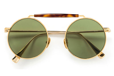 Kaleos Eyehunters - Noland Sunglasses Gold with Green Lenses