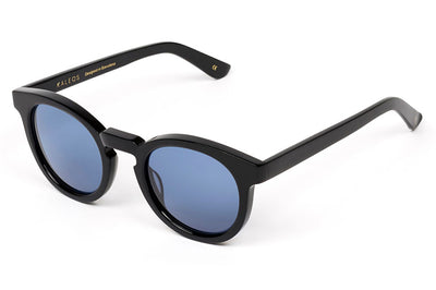 Kaleos Eyehunters - Ocean Sunglasses Black with Blue Lenses