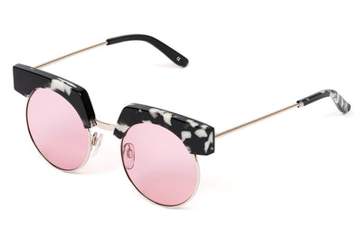 Kaleos Eyehunters - Organa Sunglasses White Tortoise with Pink Lenses