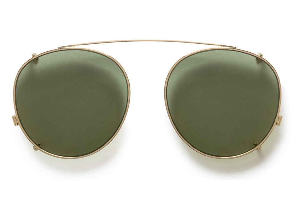 Kaleos Eyehunters - Radmann Sun-Clips Gold with Green Lenses