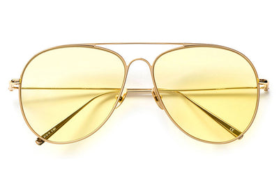 Kaleos Eyehunters - Somerset Sunglasses Gold with Yellow Lenses