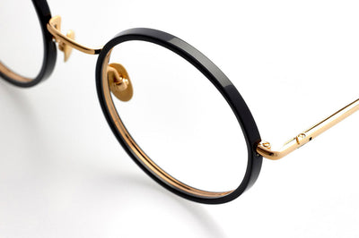 Kaleos Eyehunters - Starling Eyeglasses Black/Gold