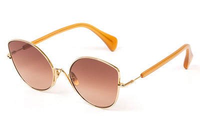 Kaleos Eyehunters - Stone Sunglasses Gold with Brown Gradient Lenses